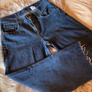Vintage Levi's high waisted, 577, cropped jeans